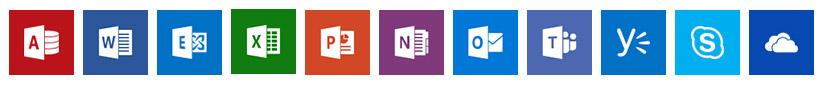 Microsoft Office 365 apps